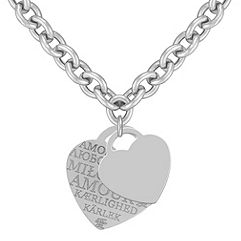 Sterling Silver Love Letters Necklace (18)