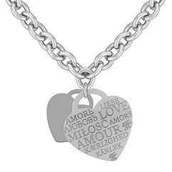 Sterling Silver Love Letters Necklace (18 in.)