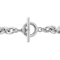 Sterling Silver Love Letters Bracelet (7.5)