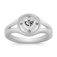 Sterling Silver CTR Ring