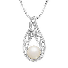 6mm Cultured Freshwater Pearl Solitaire Pendant (18)