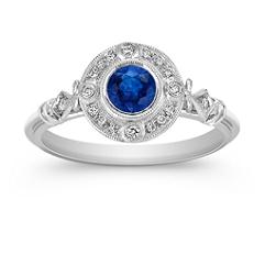 Vintage Sapphire and Diamond Ring