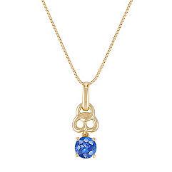 Kentucky Blue Sapphire Pendant (18 in.)