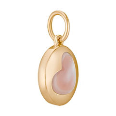 14k Yellow Gold Charm with Mother of Pearl