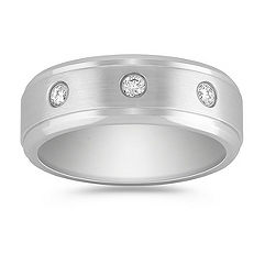 Diamond Cobalt Ring with Bezel Setting (8mm)