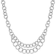 Sterling Silver Link Necklace (18 in.)