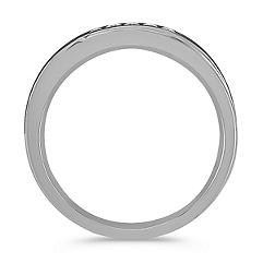 Diamond Ring with Black Rhodium