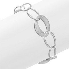 Sterling Silver Link Bracelet (7.5 in.)