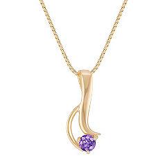 Contemporary Lavender Sapphire Pendant (18 in.)