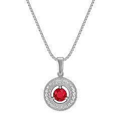 Circle Round Ruby Pendant (18)