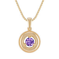 Lavender Sapphire Circle Pendant (18 in.)