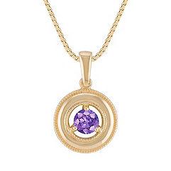 Lavender Sapphire Circle Pendant (18)