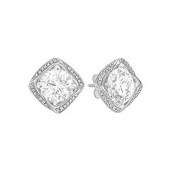 Square Round Diamond Earring Jackets