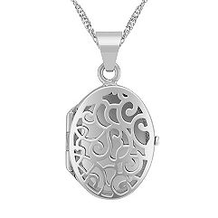 Oval Locket in Sterling Silver (18)