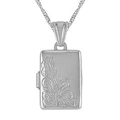 Rectangle Locket in Sterling Silver (18 in.)
