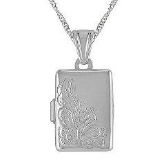 Rectangle Locket in Sterling Silver (18 in.)