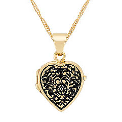 Heart Locket in 14k Yellow Gold (18 in.)