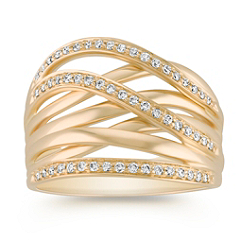 Contemporary Diamond Fashion Ring