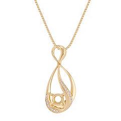 Swirl Round Diamond Pendant (18)