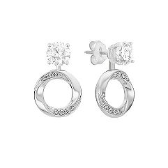 Circle Diamond Earring Danglers