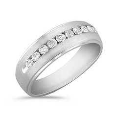 Diamond Ring with Channel Setting at approximately 1/2 carat total weight