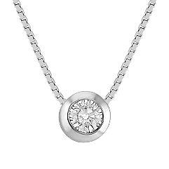 Solitaire Diamond Pendant (18 in.)
