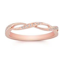 Stackable Infinity Diamond Ring in 14k Rose Gold