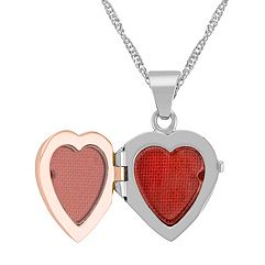 Heart Locket in 14k White and Rose Gold (18)
