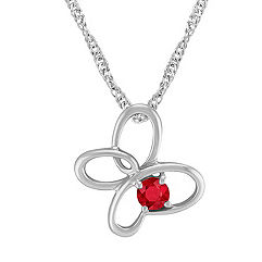 Ruby and Sterling Silver Floral Pendant (20)