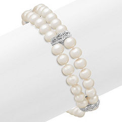 5.5mm Cultured Freshwater Pearl and Sterling Silver Bracelet (7.5 in.)