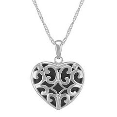 Black Agate and Sterling Silver Heart Pendant (22)