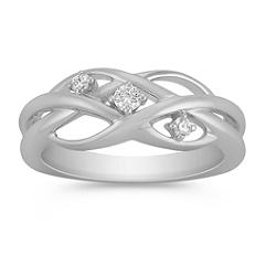 Contemporary Woven Diamond Ring