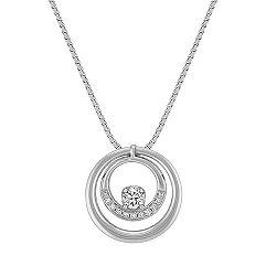 Diamond Double Circle Pendant (18)
