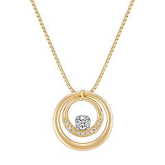 Diamond Double Circle Pendant (18)