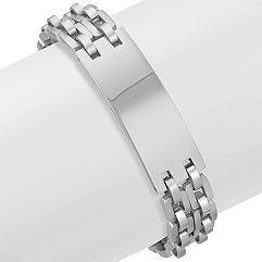 Polished Engravable Stainless Steel Bracelet (8.5 in.)