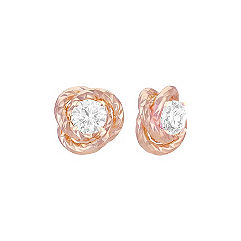 14k Rose Gold Knot Earring Jacket