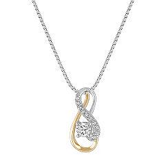 Diamond Pendant in Two-Tone Gold (18 in.)