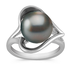 10mm Cultured Tahitian Pearl Ring