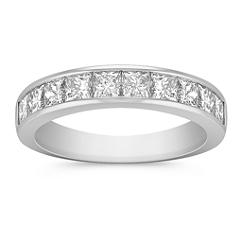 Princess Cut Diamond Wedding Band with Channel Setting