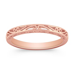 Vintage 14k Rose Gold Wedding Band