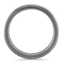 14k White Gold Ring with Black Ruthenium (7mm)