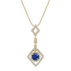 Sapphire and Diamond Pendant (18 in.)