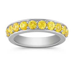 Yellow Sapphire Wedding Band