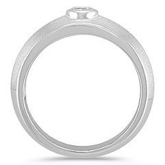 Round Diamond Ring with Bezel Setting and Satin Finish