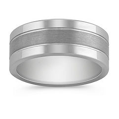 Max-T Polished Titanium Comfort Fit Ring (9mm)