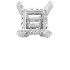 Diamond Alexa Head to Hold up to 1.25 ct. Princess Cut Stone
