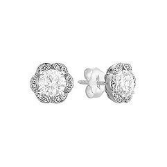Vintage Diamond Earring Jackets with Pave Setting