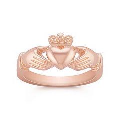 14k Rose Gold Claddagh Ring for Men