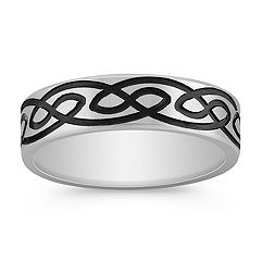 Engraved 14k White Gold Comfort Fit Ring (6mm)