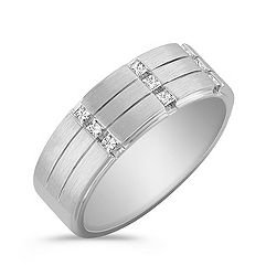 Princess Cut Diamond Ring with Channel Setting and Satin Finish